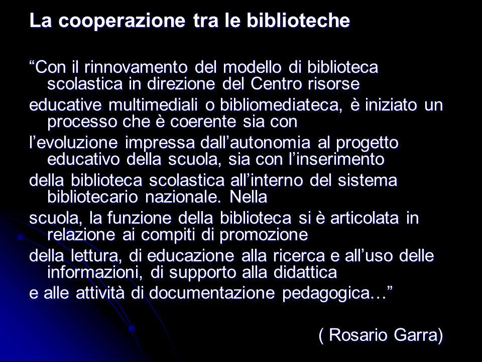 La cooperazione tra le biblioteche