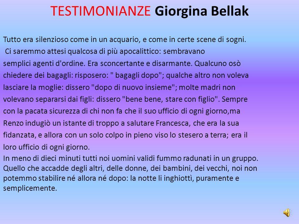 TESTIMONIANZE Giorgina Bellak