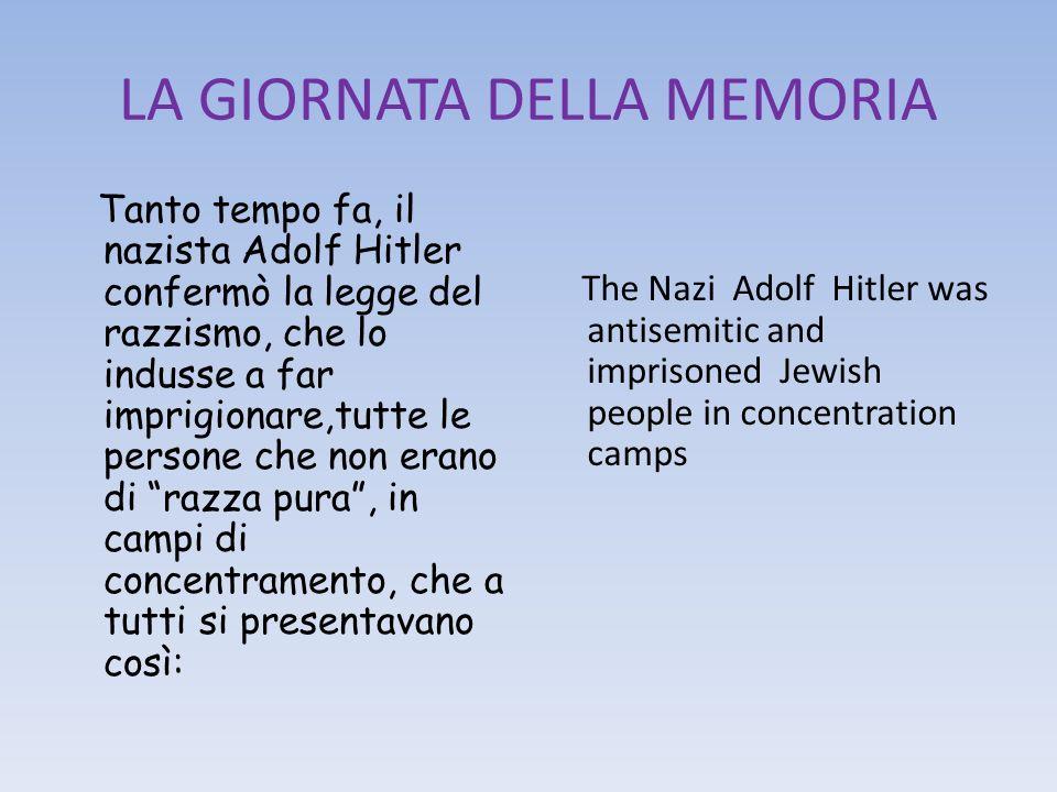 LA GIORNATA DELLA MEMORIA