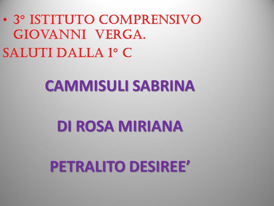CAMMISULI SABRINA DI ROSA MIRIANA PETRALITO DESIREE'