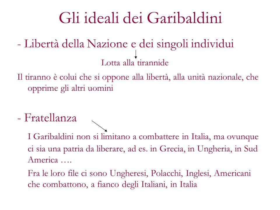 Gli ideali dei Garibaldini