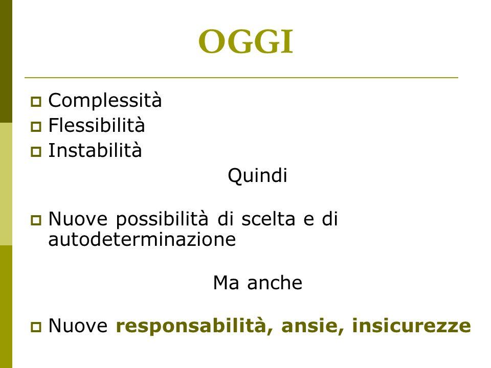 OGGI Complessità Flessibilità Instabilità Quindi