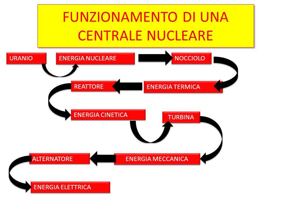 FUNZIONAMENTO DI UNA CENTRALE NUCLEARE