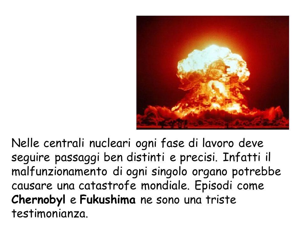 Nelle centrali nucleari ogni fase di lavoro deve seguire passaggi ben distinti e precisi. Infatti il malfunzionamento di ogni singolo organo potrebbe causare una catastrofe mondiale. Episodi come Chernobyl e Fukushima ne sono una triste testimonianza.