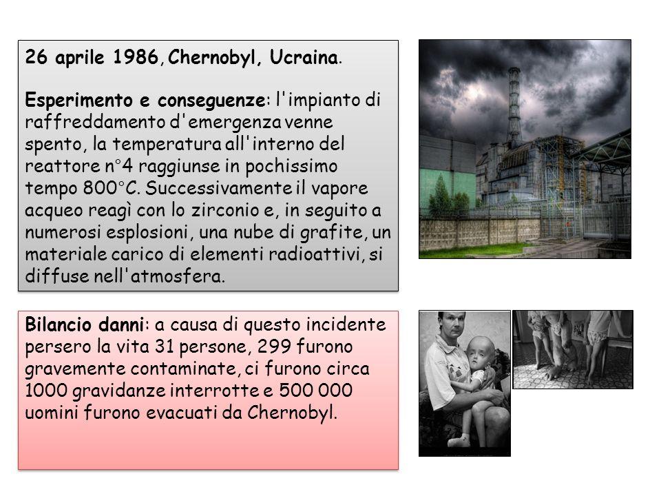 26 aprile 1986, Chernobyl, Ucraina.