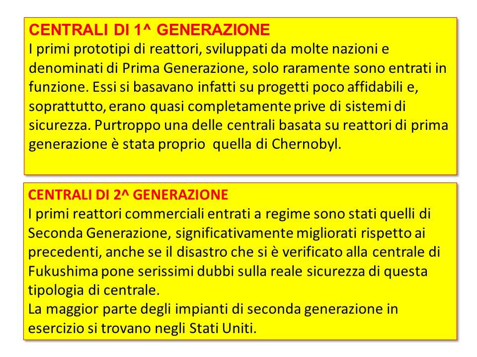 CENTRALI DI 1^ GENERAZIONE