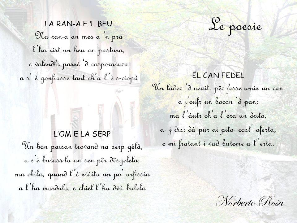 Le poesie Norberto Rosa Na ran-a an mes a 'n pra