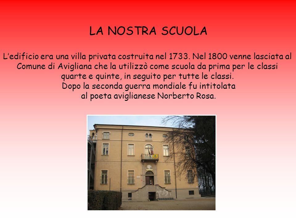 LA NOSTRA SCUOLA L'edificio era una villa privata costruita nel 1733. Nel 1800 venne lasciata al.