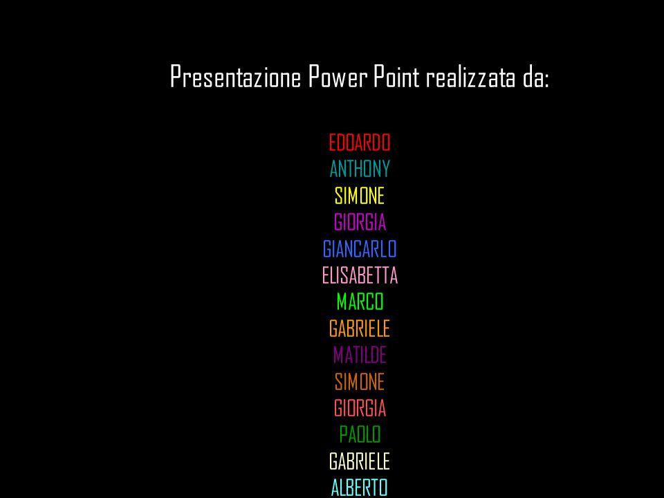 Presentazione Power Point realizzata da: