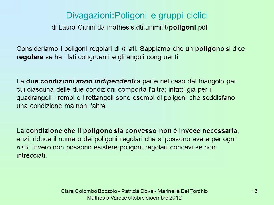 Divagazioni:Poligoni e gruppi ciclici