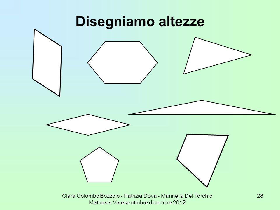 Disegniamo altezzeClara Colombo Bozzolo - Patrizia Dova - Marinella Del Torchio Mathesis Varese ottobre dicembre 2012.
