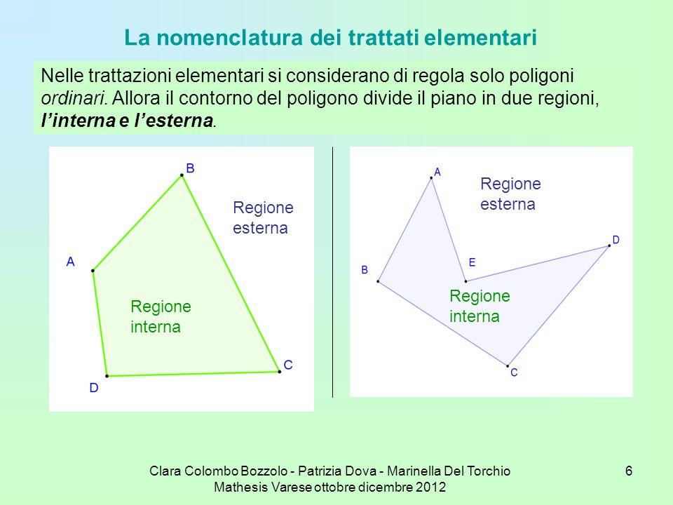La nomenclatura dei trattati elementari