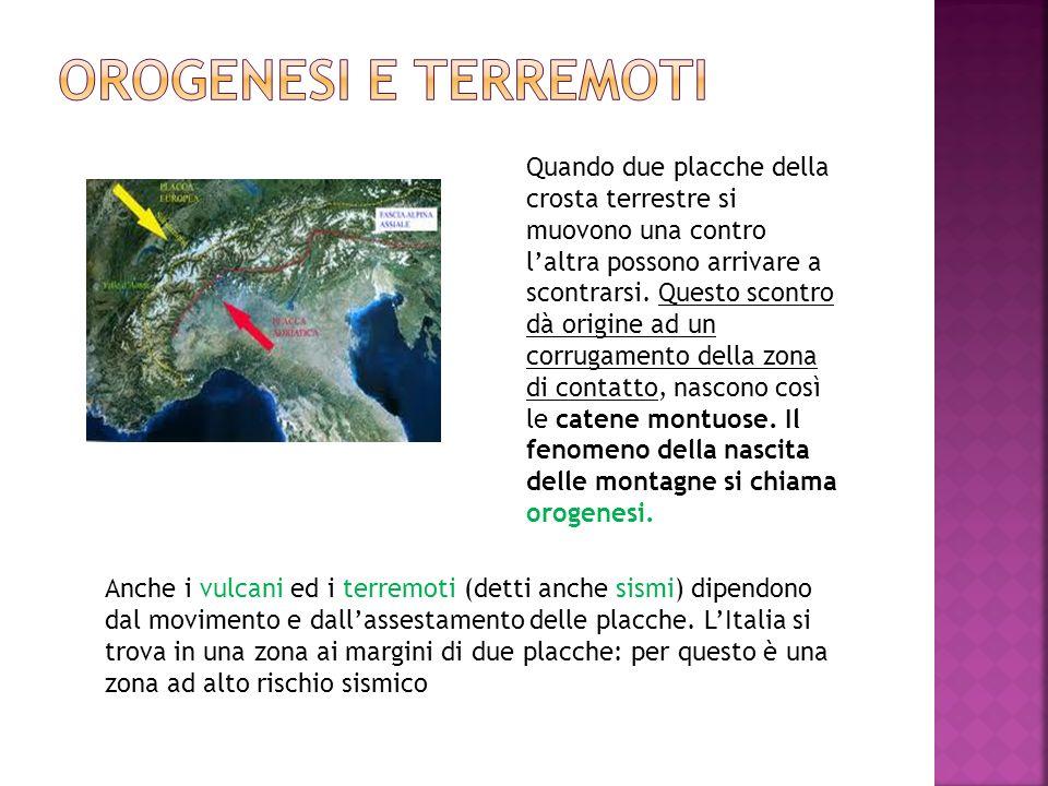 Orogenesi e terremoti