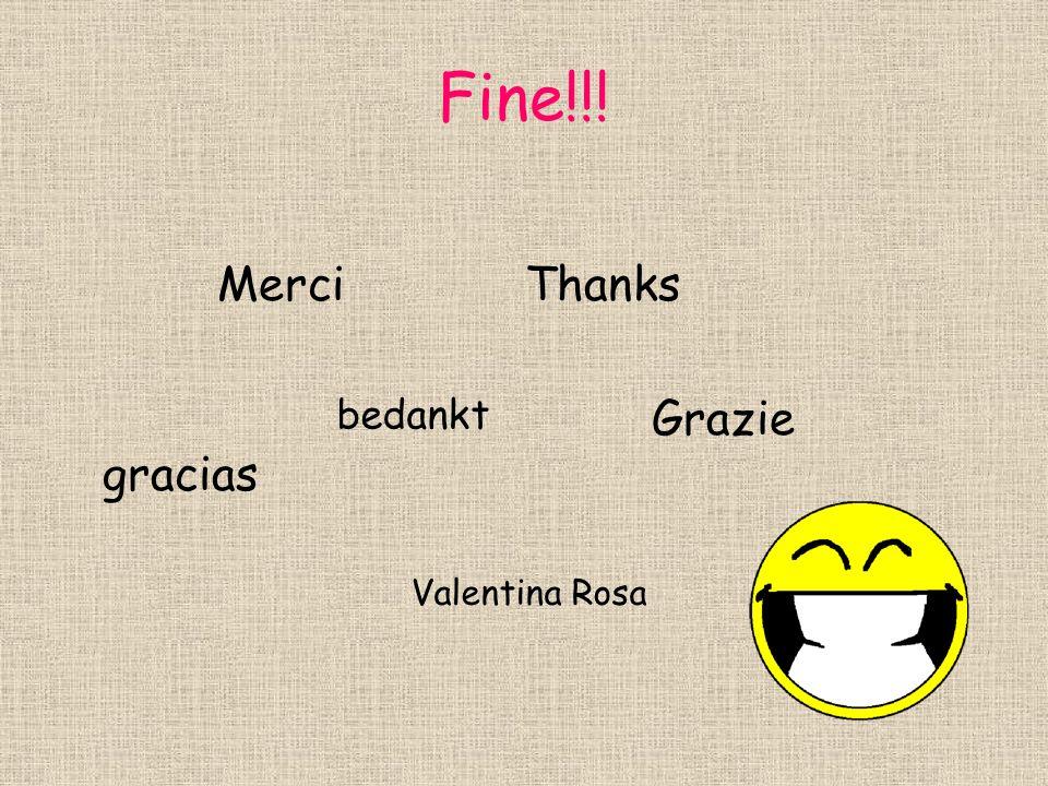Fine!!! Merci Thanks Grazie gracias bedankt Valentina Rosa