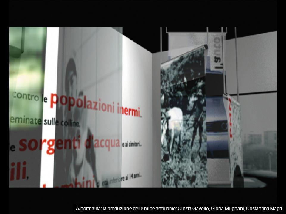 A/normalità: la produzione delle mine antiuomo: Cinzia Gavello, Gloria Mugnani, Costantina Magri