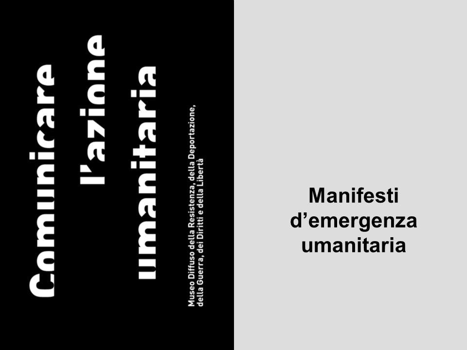 Manifesti d'emergenza umanitaria