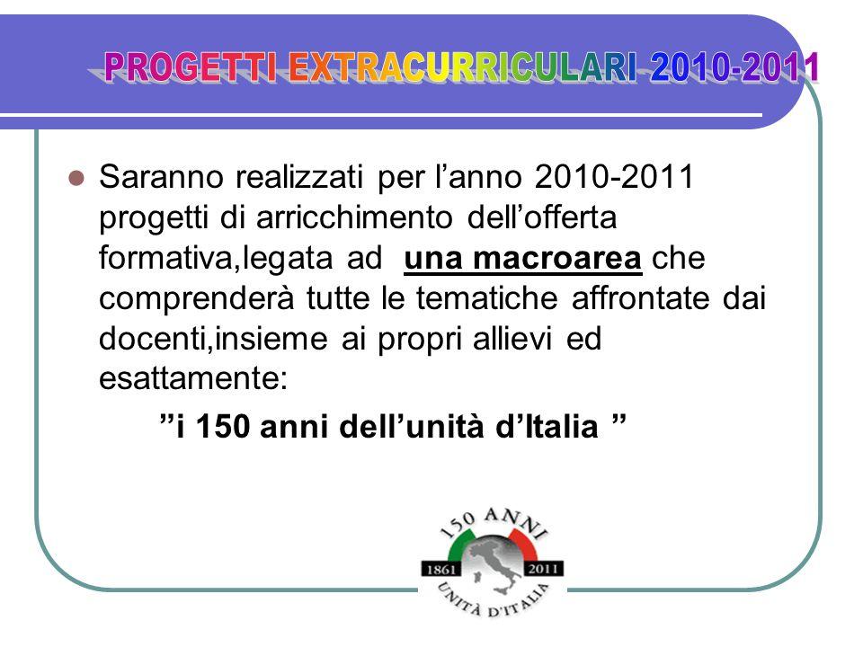 PROGETTI EXTRACURRICULARI 2010-2011