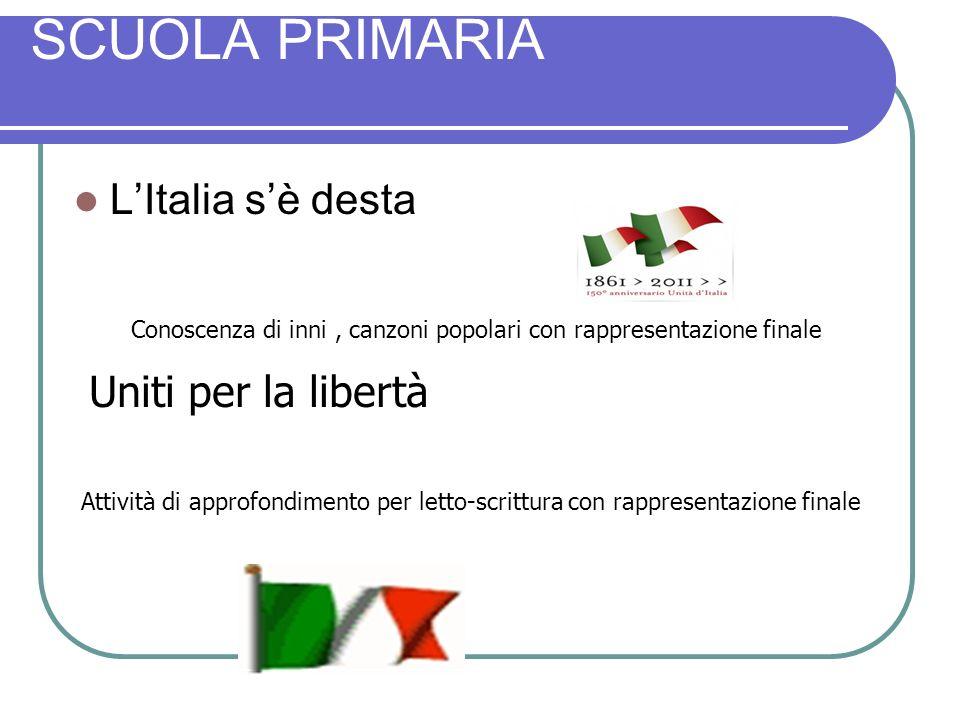 SCUOLA PRIMARIA L'Italia s'è desta Uniti per la libertà