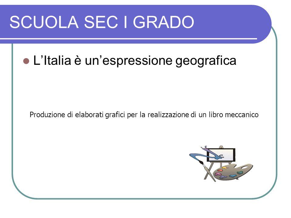 SCUOLA SEC I GRADO L'Italia è un'espressione geografica