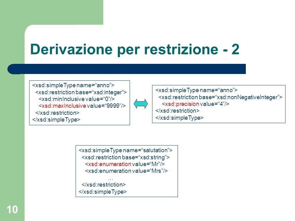 Derivazione per restrizione - 2