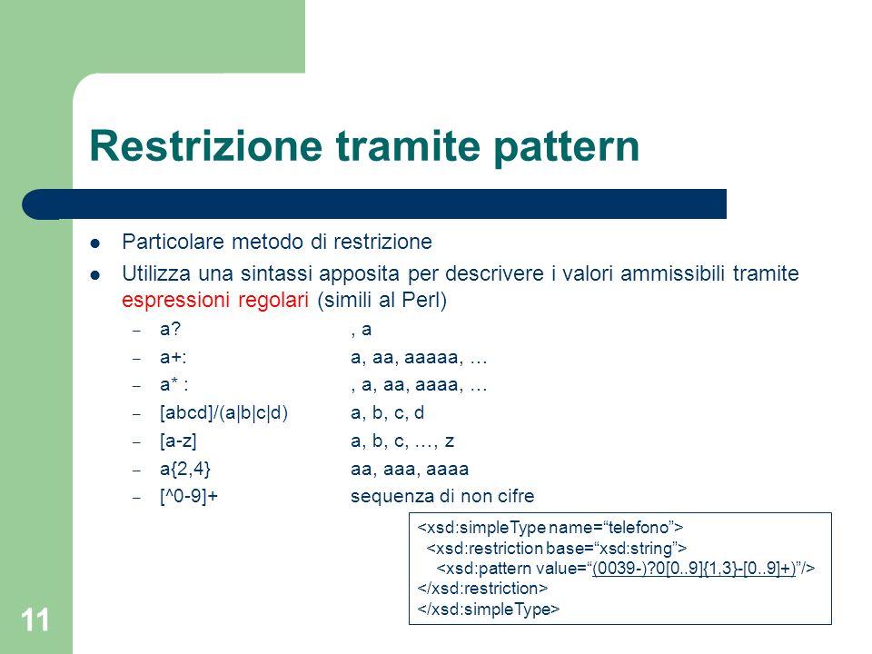 Restrizione tramite pattern