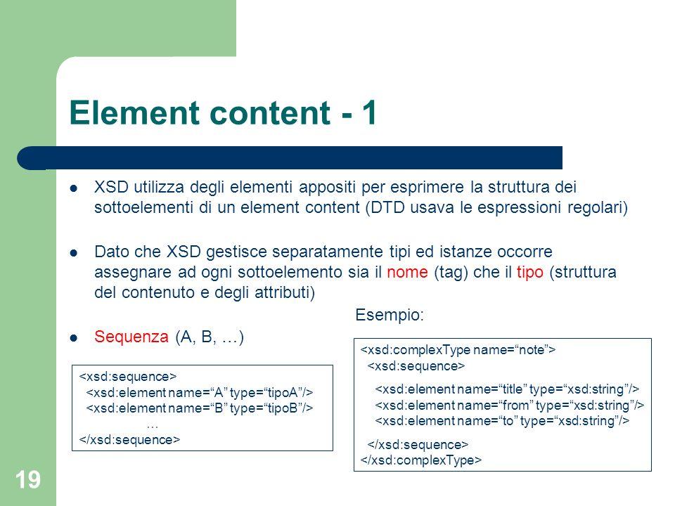 Element content - 1