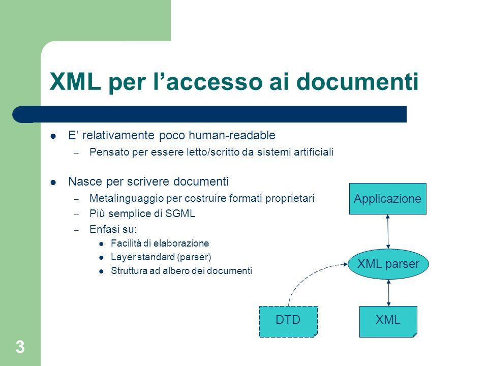 XML per l'accesso ai documenti