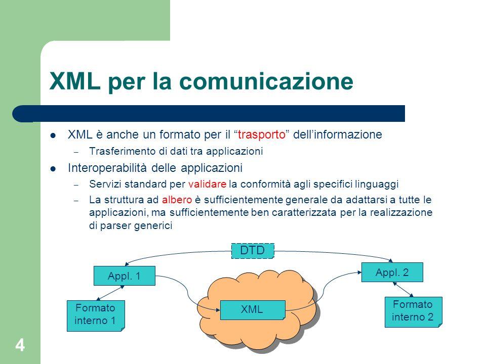 XML per la comunicazione