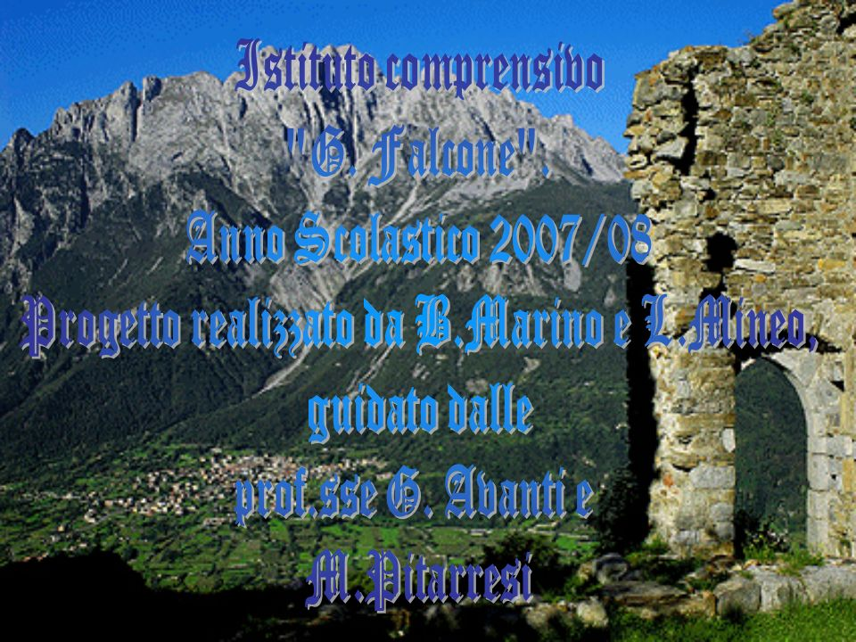 Progetto realizzato da B.Marino e L.Mineo,