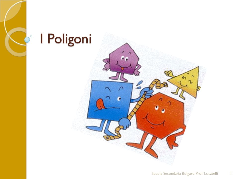 I Poligoni Scuola Secondaria Bolgare. Prof. Locatelli