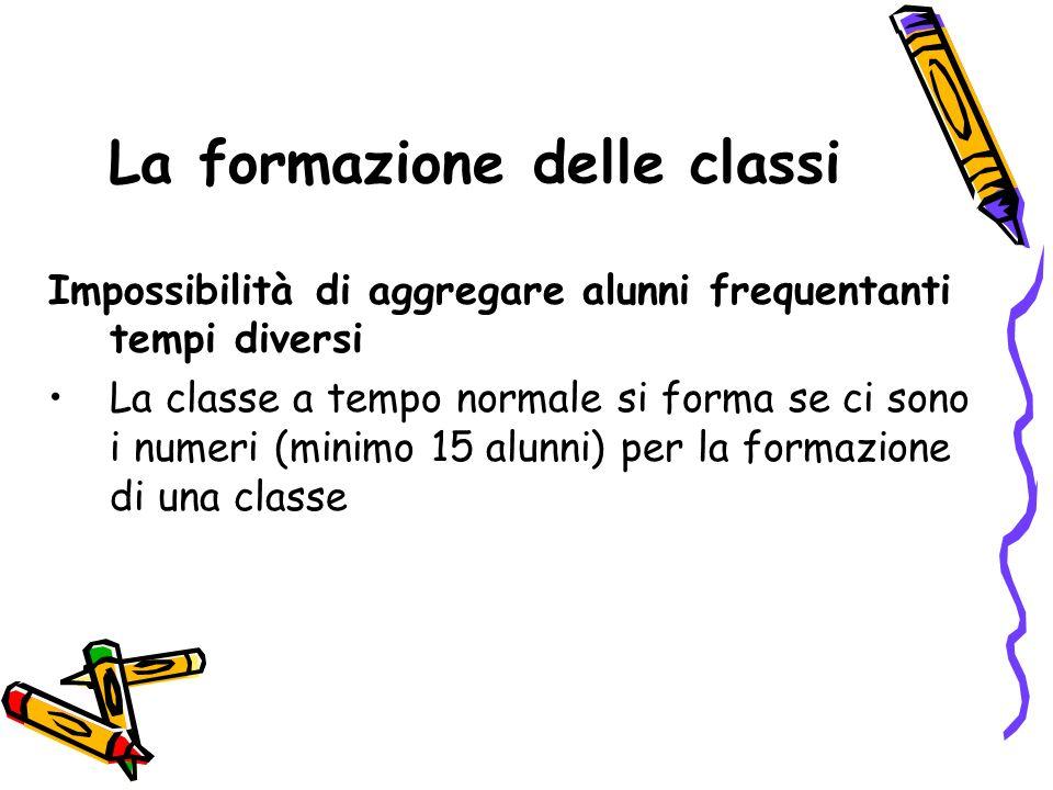 La formazione delle classi