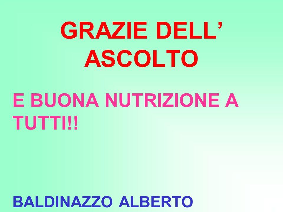 E BUONA NUTRIZIONE A TUTTI!! BALDINAZZO ALBERTO