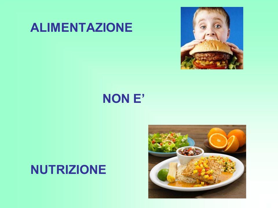 ALIMENTAZIONE NON E' NUTRIZIONE