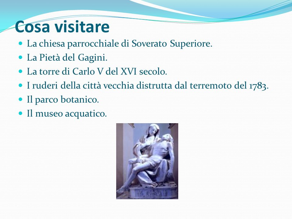 Cosa visitare La chiesa parrocchiale di Soverato Superiore.