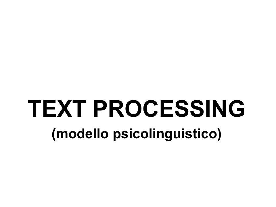 (modello psicolinguistico)