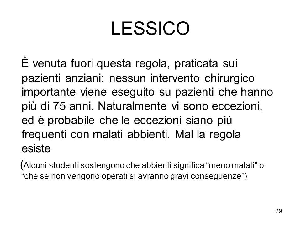 LESSICO