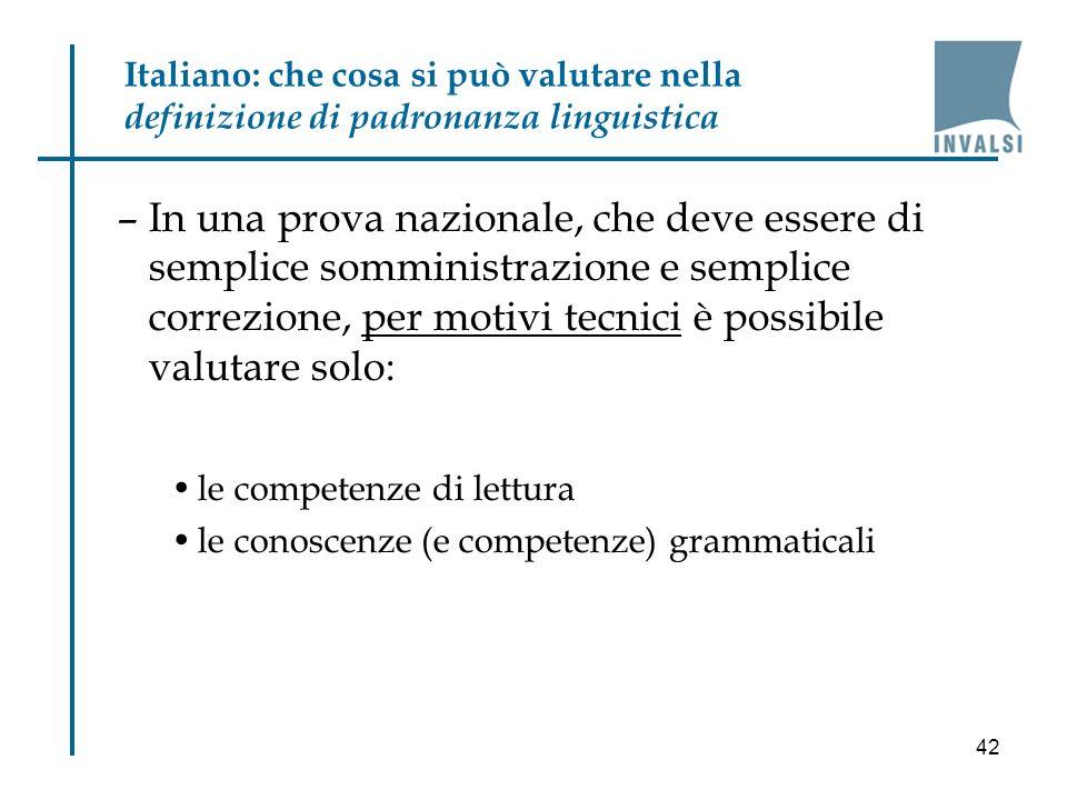 Italiano: che cosa si può valutare nella definizione di padronanza linguistica