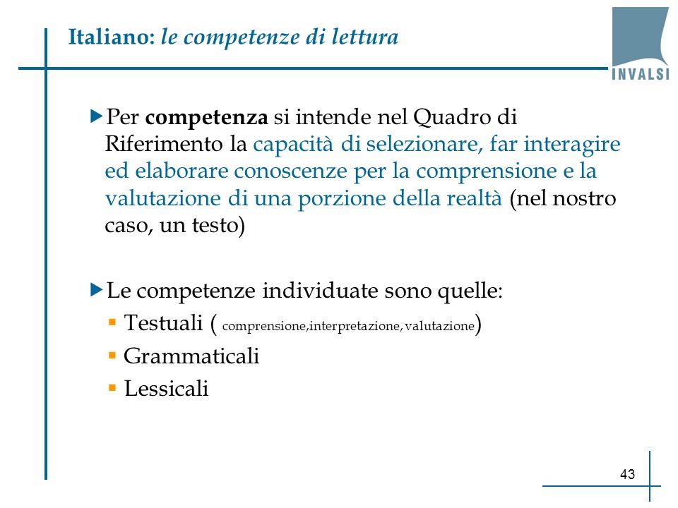 Italiano: le competenze di lettura