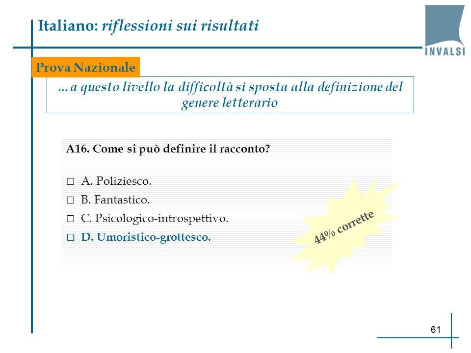 Italiano: riflessioni sui risultati