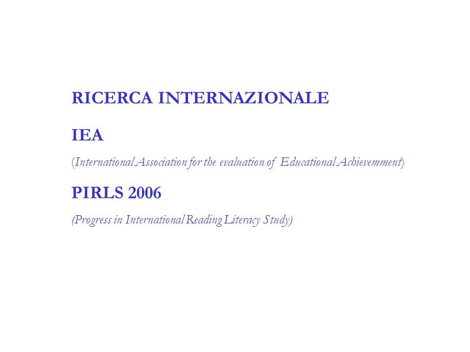 RICERCA INTERNAZIONALE IEA
