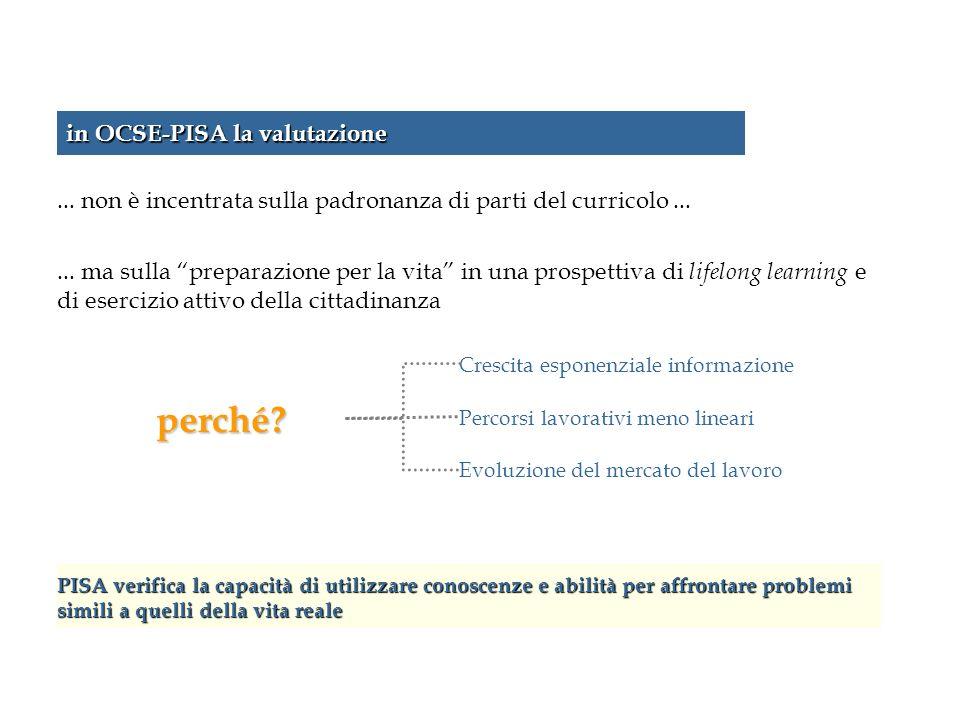 perché in OCSE-PISA la valutazione