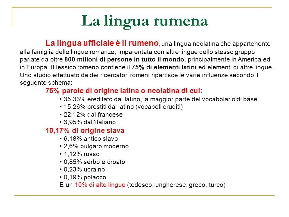 La lingua rumena
