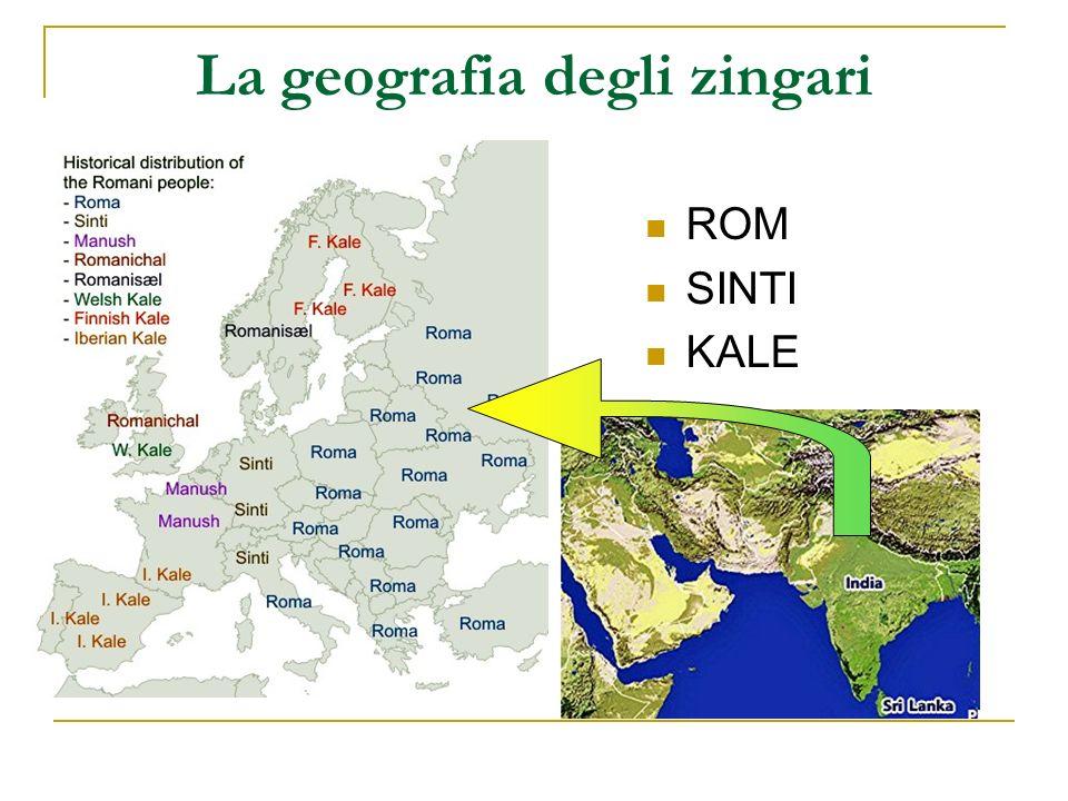 La geografia degli zingari