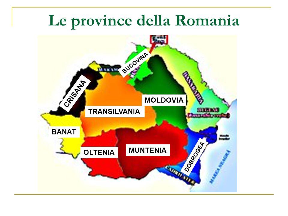Le province della Romania