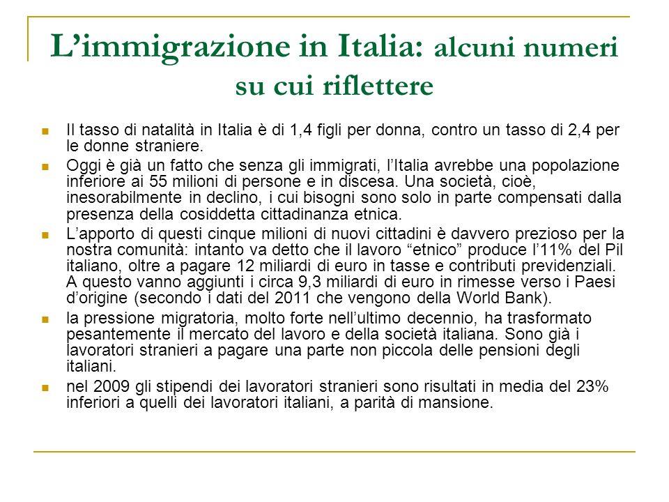 L'immigrazione in Italia: alcuni numeri su cui riflettere