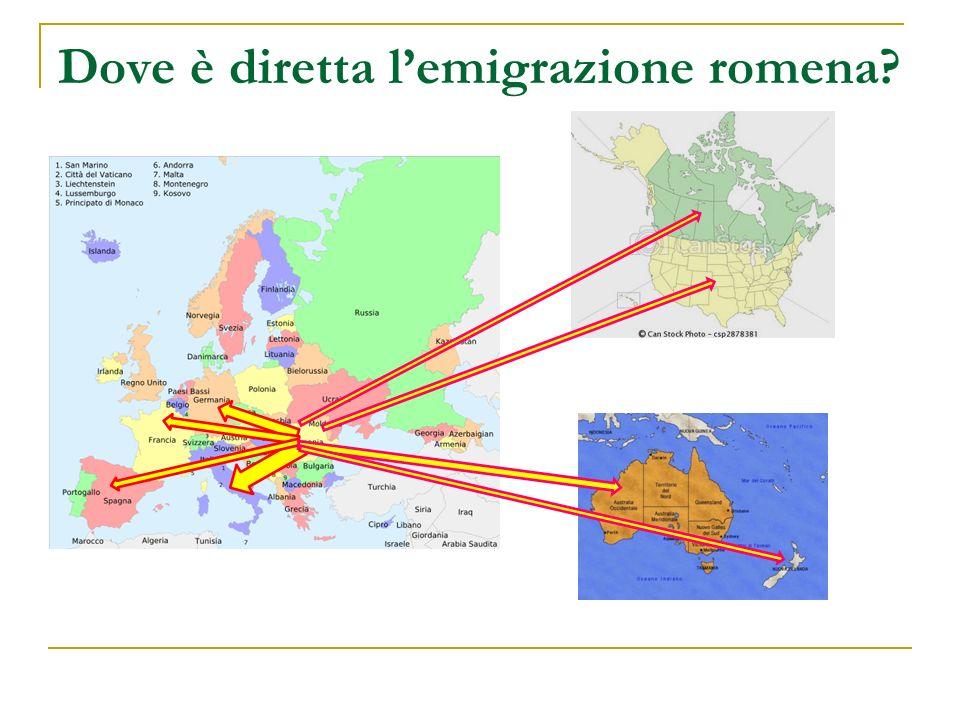 Dove è diretta l'emigrazione romena