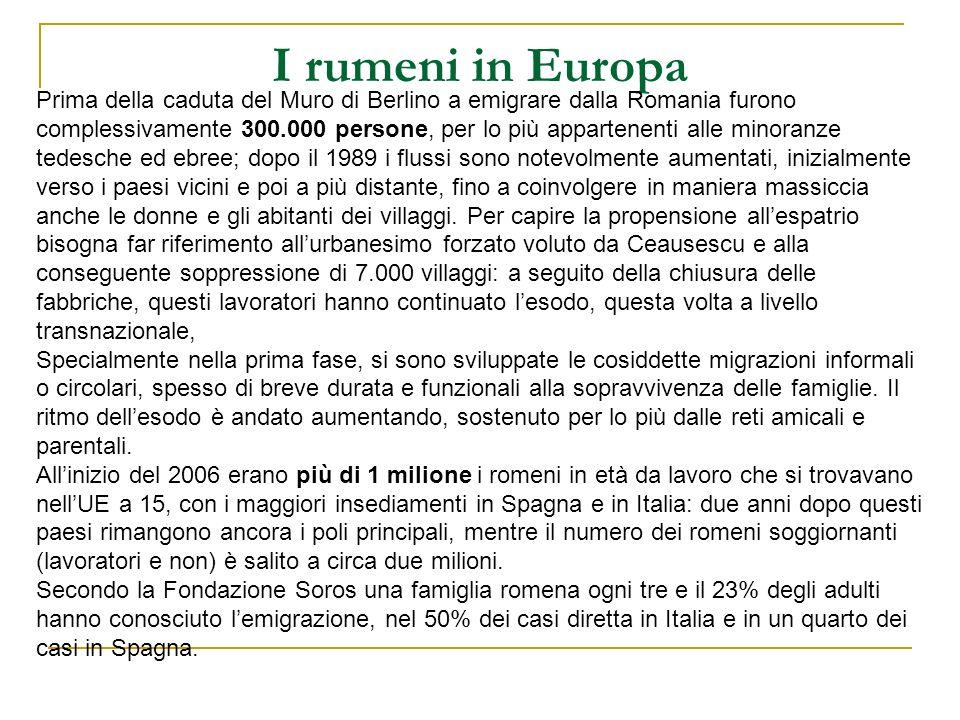 I rumeni in Europa