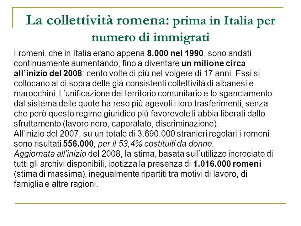 La collettività romena: prima in Italia per numero di immigrati