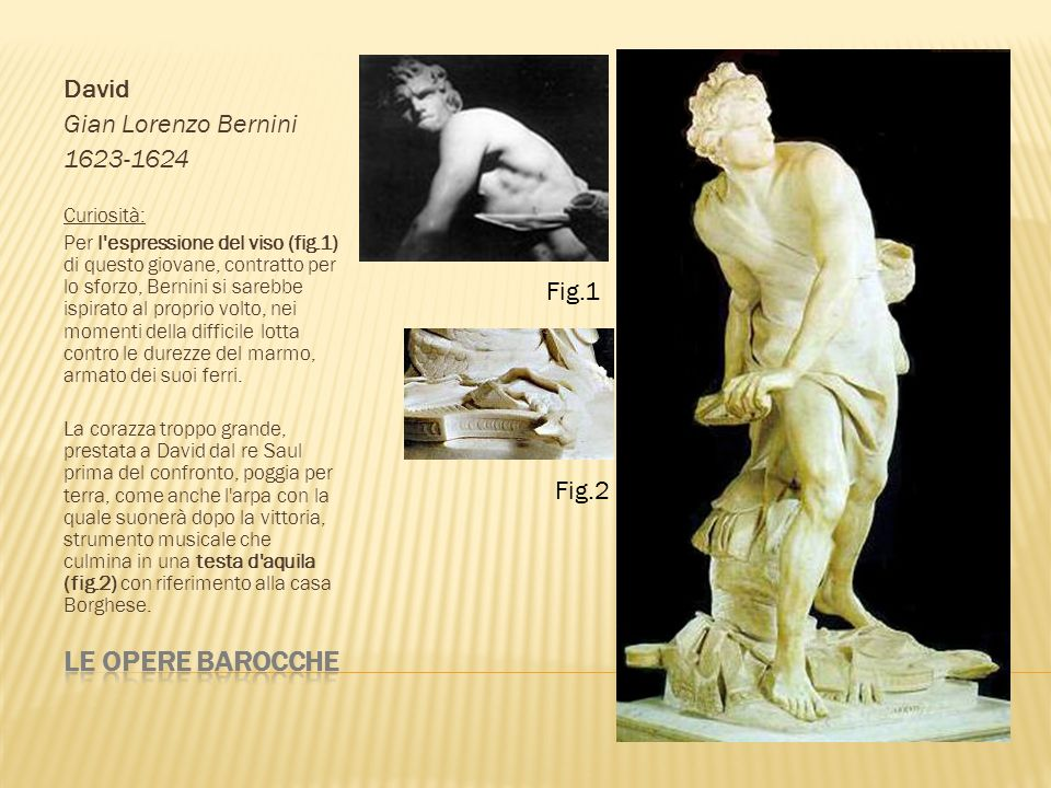 Le opere barocche David Gian Lorenzo Bernini 1623-1624 Fig.1 Fig.2