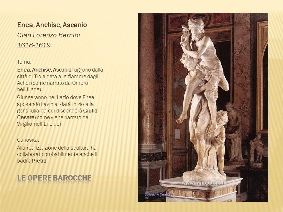 Le opere barocche Enea, Anchise, Ascanio Gian Lorenzo Bernini